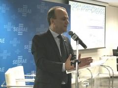 Deputado Helder durante lançamento do IV EMDS em Brasília